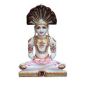 Polished Marble Parshwanath Statue