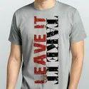 Mens Graphics Print Round T Shirt
