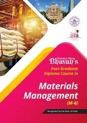 One Year (part-time) PG Diploma in Material Management Course