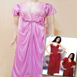 Cotton Plain Ladies Designer Nighty, Packaging Type: Packet, Size: Available In L, XL and XXL