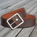 Mens Oil Pull Up Brown Leather Belt