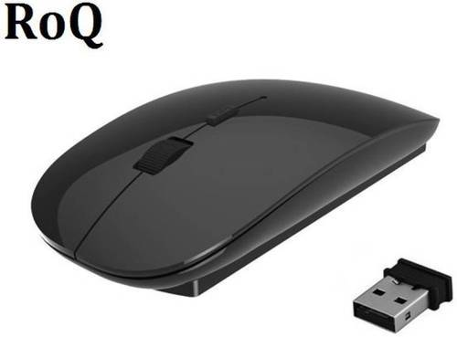 9d7b7090ad9 Black ROQ 2.4Ghz Ultra Slim Wireless Optical Mouse, Rs 110 /piece ...