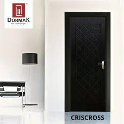 Criscross Decorative Wooden Membrane Designer Door