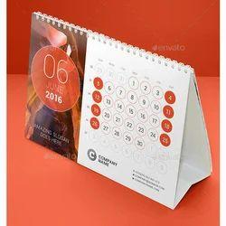 Paper Printed Desk Calendar