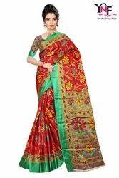Cotton Silk Brasso Vol 2 Tapadiya Brasso Satin Printed Saree
