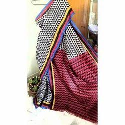 Kheya Silk Black Saree and Blouse, Length: 6.25 m
