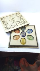 Seven Chakra Healing Set Oval Shape