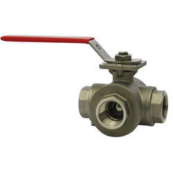 3 Way NPT Stainless Steel Ball Valve