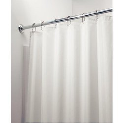 Plain White Shower Curtain