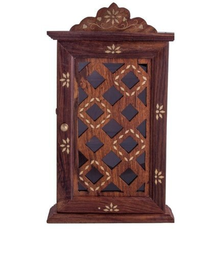Craftu0027 Sman Global 6.5x2x11 Wooden Wall Hanging Key Cabinet Cum Key Holder