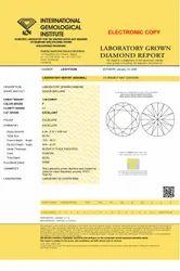1.00ct Lab Grown Diamond CVD F SI1 Round Brilliant Cut IGI Crtified Type2A