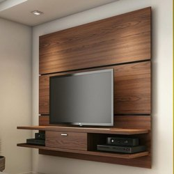 Brown Wall Mounted Wooden Wall TV Cabinet, Max TV Screen Size: 40-49 Inch, for Home