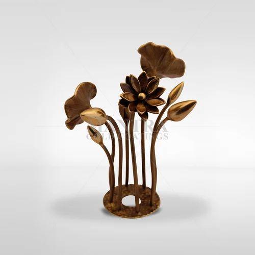 Bronze Lotus Sculpture
