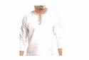 Men Mens White Linen Tunics Embroidered V Neck T Shirt