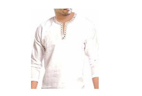 3bb9a38dba Men Mens White Linen Tunics Embroidered V Neck T Shirt