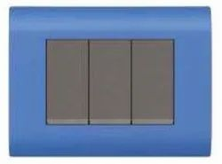 Curve Series Blue Switch Plate