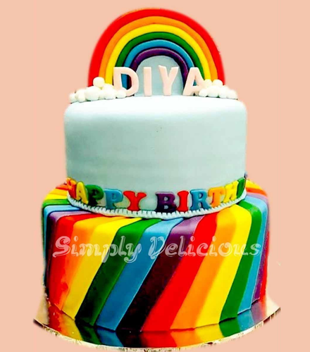 Rainbow Theme Cake At Rs 8500 Pack