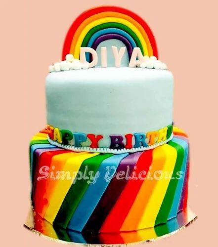 Rainbow Theme Cake At Rs 8500 Pack Theme Cake Id 17327169388
