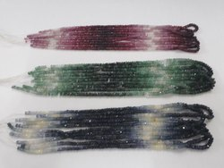 Precious Gemstone Faceted Rondelle 3-4mm Beads Strands