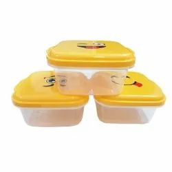 Multipurpose Plastic Storage Containers / Premium Quality, Airtight, 0.75 Liter Each, Pack of 3