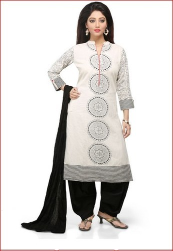 48bfd3df81 Off White Cotton Flex Readymade Salwar Kameez at Rs 1499 /piece ...
