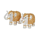 Silver And Gold Plated Elephant