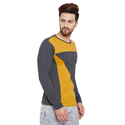 Men's Full Sleeves Round Neck Multicolour T-Shirt