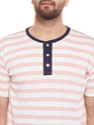 Men Half Sleeve Striped T-Shirt