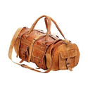 Brown Pure Leather Duffle Travel Bag