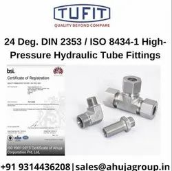 Tufit Pt-Plug Table End /Pth-Plug Tube End With Nut, For Hydraulic