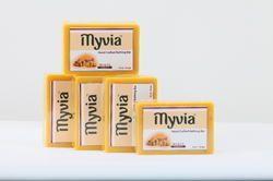 Myvia Haldi Soap 100 Grams, Pack Type: Shrink Wrapped