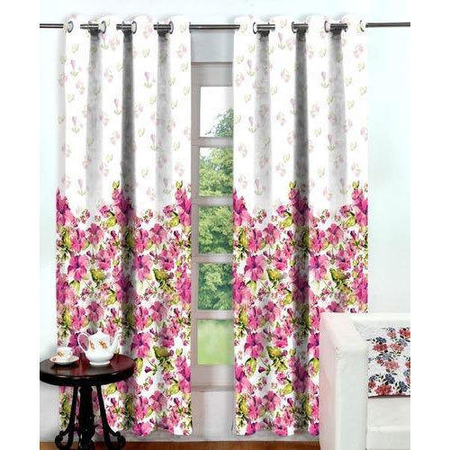Polyester Printed 4 X 7 Feet Window Curtains Size Ft