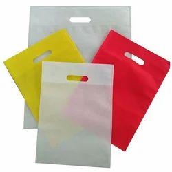 38f9ac7f0b PP And Non Woven Yellow And Red D Cut Plain Non Woven Bag