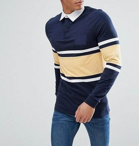 Men s Long Sleeve Cut   Sew Polo Shirt With Canvas Collar at Rs 310 ... 2d07724ac