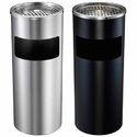 Silver Stainless Steel Ash Tray Bin