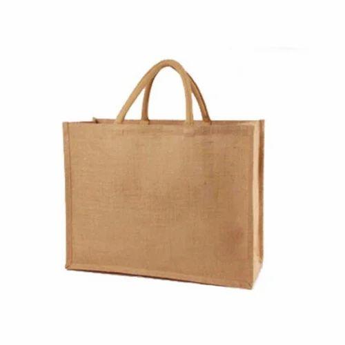 e76cd1ba65 Brown Plain Jute Beach Bag, Rs 40 /piece, Saj Enterprise   ID ...