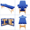Professional Portable Spa Massage Wooden Tables Foldable Massage Table with Carrying Bag