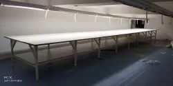 M.s Pipe Fabric Cutting Table