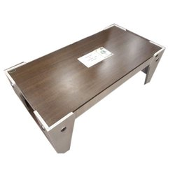 Brown With White Centre Wooden Table