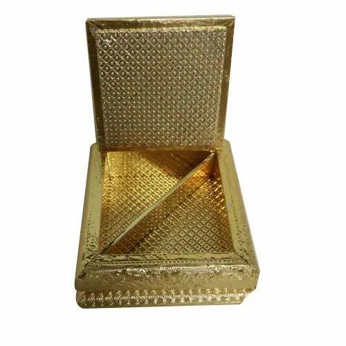 Golden Wooden Dry Fruit Boxes