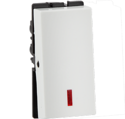 Havells White And Grey 10AX 1Way With Ind Electrical Switch, Voltage: 240 V