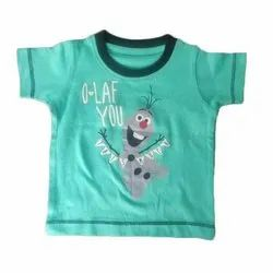 Casual Wear Half Sleeves Kids Cotton Printed T Shirts, Size: 1 To 6 Year