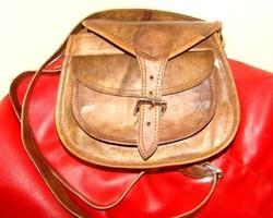 Front Pocket Curve Leather Sling Bag