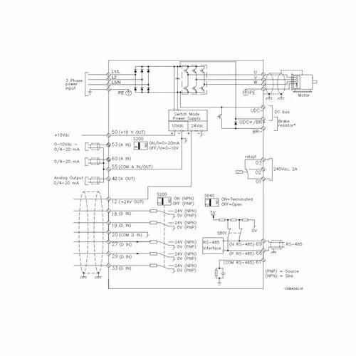 danfoss vlt micro drive fc 51 3 7 kw ac drive
