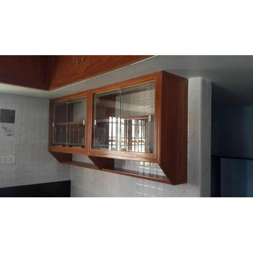 Overhead Kitchen Cabinet: Brown PVC Modular Kitchen Wall Cabinet, Rs 700 /square