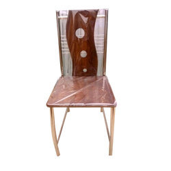 Teak Wood And Stainless Steel Modern Stainless Steel Hotel Chair