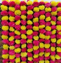 Multicolor Artificial Marigold Flower Garland