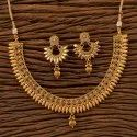 Handmade Antique Delicate Necklace Set With Gold Plating 200691