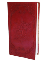 Sun Celtic Embossed Handmade Leather Notebook