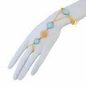 Chalcedony Bezel Stone Handmade Slave Bracelet